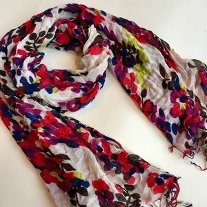 Multicolor Abstract Floral Scarf